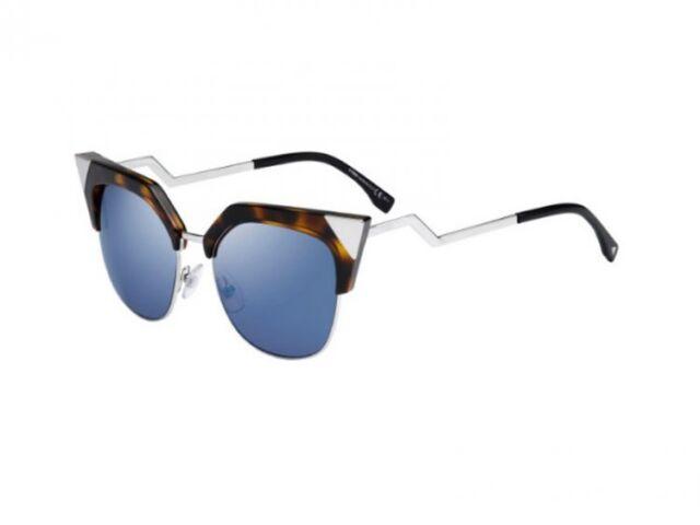 82bb94555a Fendi FF 0149 s 0tlv Iridia Havana Palladium Cat Eye Sunglasses for ...