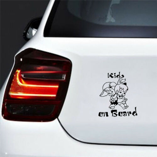 Decor Graphics Decal Cartoon Car Window Decoration Kids On Board Sticker FG