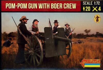 4 Figure Set Strelets Models 1//72 POM POM GUN WITH BOER CREW