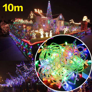 10M-RGB-Christmas-Tree-Fairy-String-Party-Decor-Outdoor-100LED-Waterproof-2pcs