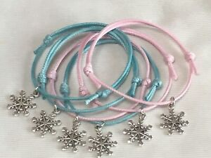 6-FROZEN-THEME-FRIENDSHIP-CHARM-BRACELETS-BIRTHDAY-PARTY-BAG-GIFT-FAVOR