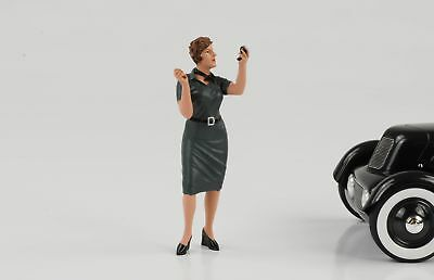 50s Anni 50 Style Donna Girl Figura Ulrike 1:18 American Diorama Iv No Car