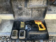 Dewalt Dw004 24v Cordless 78 Rotary Hammer Drill Sds Batteries Charger Case