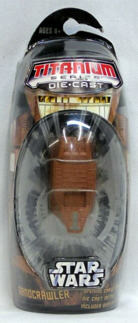 2006 Star Wars Titanium Sandcrawler Die-Cast Vehicle MicroMachines NIP