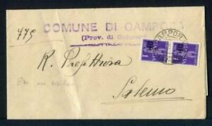 24615-Italy-13-5-45-Correo-Militar-Carpeta-Campora-Sa-Para-Salerno