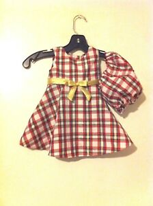 image is loading little girls red green plaid christmas dress gold