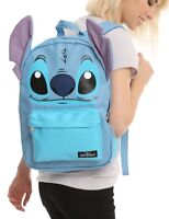 Disney Lilo & Stitch Faux Leather Big Face School Book Bag Backpack