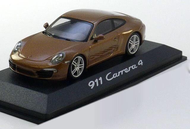 RARE PORSCHE 911 (991) voitureRERA 4 COUPE 2011 marron  1 43 MINICHAMPS (DEALER MODEL)  profitez de 50% de réduction