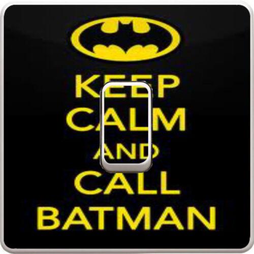 Keep Calm Batman Light Switch Vinyl Sticker Decal Skin Kids Bedroom #154