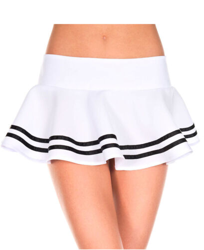 New Music Legs 182 Double Striped Wavy Skirt