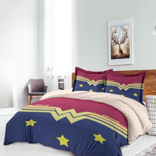Stars Woman Duvet Cover Set Pillow Case Wonder Twin Full Queen King Flat Sheet