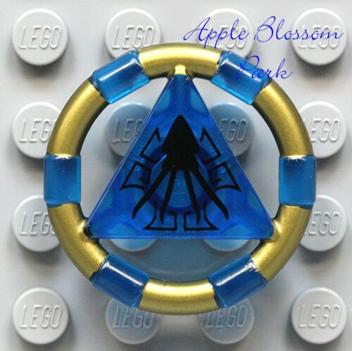 8078 Giant Squid Minifig Symbol NEW Lego Atlantis Trans BLUE TREASURE KEY