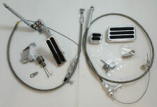 """Billet Throttle / Gas Pedal Kit W/ 36"""" Stainless Braided Cable & Return Spring"""