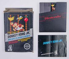 Donkey Kong Jr. Nintendo NES Complete CIB Cart Box Manual Arcade Classics 1986