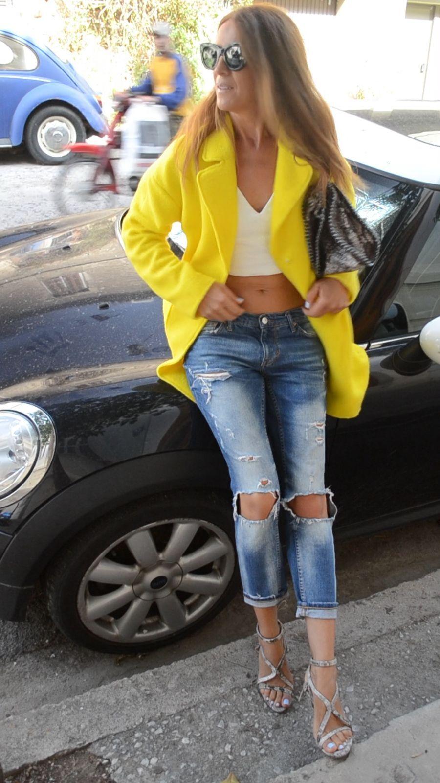 ZARA YELLOW MOHAIR BLAZER COAT WITH SLIT bloggers size s small bnwt