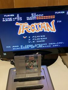 100-WORKING-NINTENDO-NES-RARE-FUN-5-Screw-Game-Cartridge-CAPCOM-TROJAN