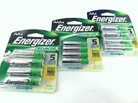 12 Piece Combo Pack - Energizer Rechargeable Batteries Nimh Retail 8 Aa + 4 Aaa