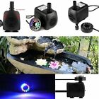 Submersible Water Pump with 12 LED Light for Fountain Pool Garden Pond Fish NEW