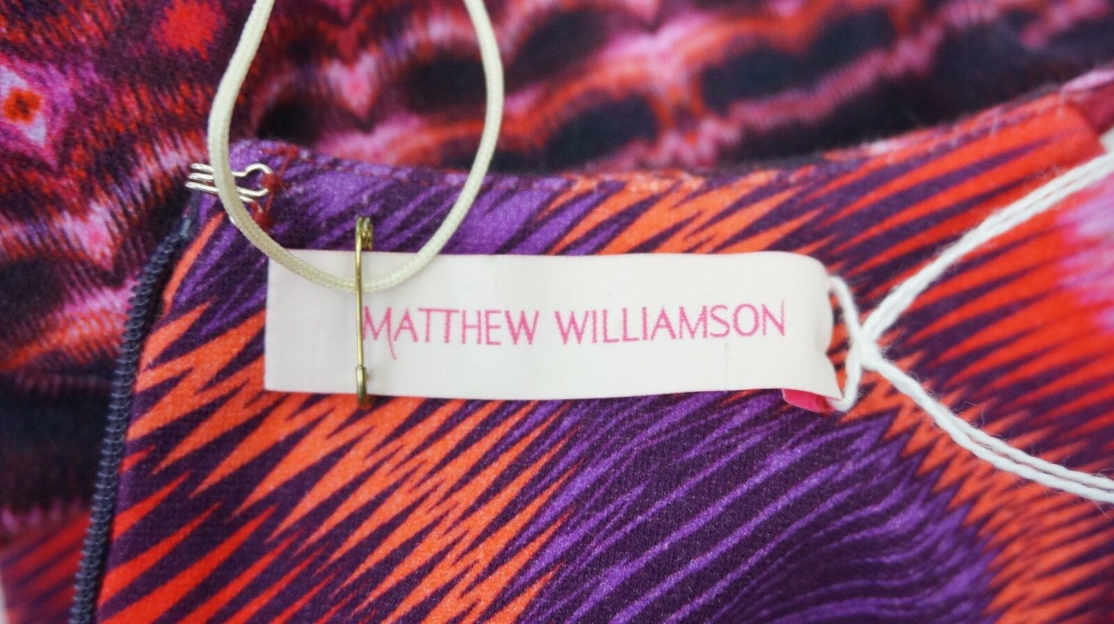 Matthew Williamson Williamson Williamson Long Sleeve Patterned Größe 10 UK Dress BNWTS d289af
