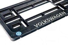 1x VW LOGO EXCLUSIVE USA LICENSE NUMBER PLATE SURROUNDS HOLDER BLACK MK1 MK2 MK3