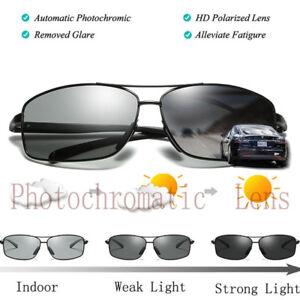 Men/'s Photochromic Polarized Sunglasses HD Transition Lens Driving Glasses New
