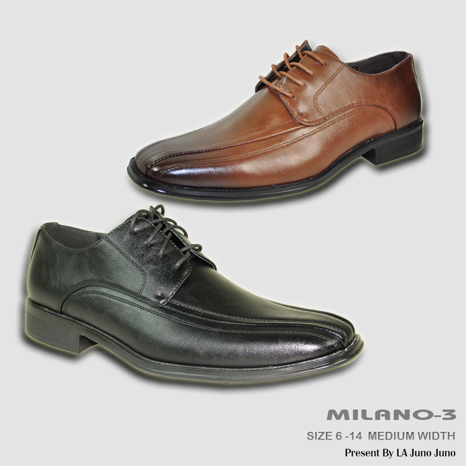 BRAVO New Uomo Dress Shoe MILANO-3 Oxford Double Runner Square Toe Pelle Lining
