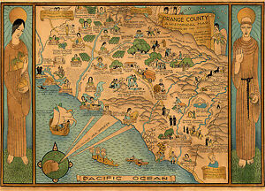 1922-Pictorial-Historical-Map-Orange-County-California-Wall-Art-Poster-Vintage