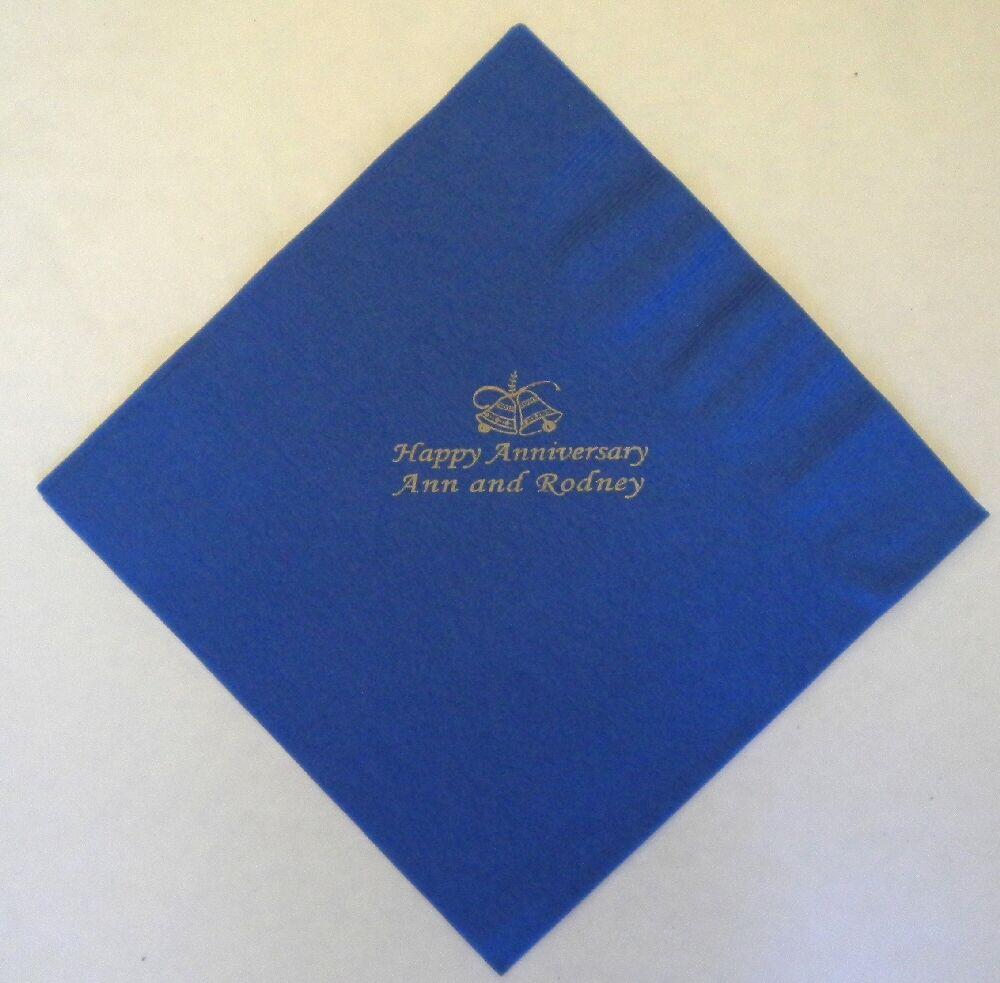 30 marineblau PERSONALISIERTES FOTO Papierservietten 40cm 3-lagige Geburtstag | Glücklicher Startpunkt  | Optimaler Preis