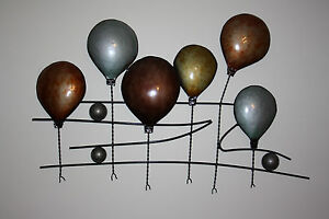 Balloon-Race-Contemporary-Metal-Wall-Art-Sculpture-BNIB