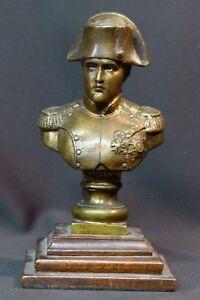 Brillant C 19èm Buste Statue Sculpture Bronze Napoléon Premier 1.7kg21cm Militaire