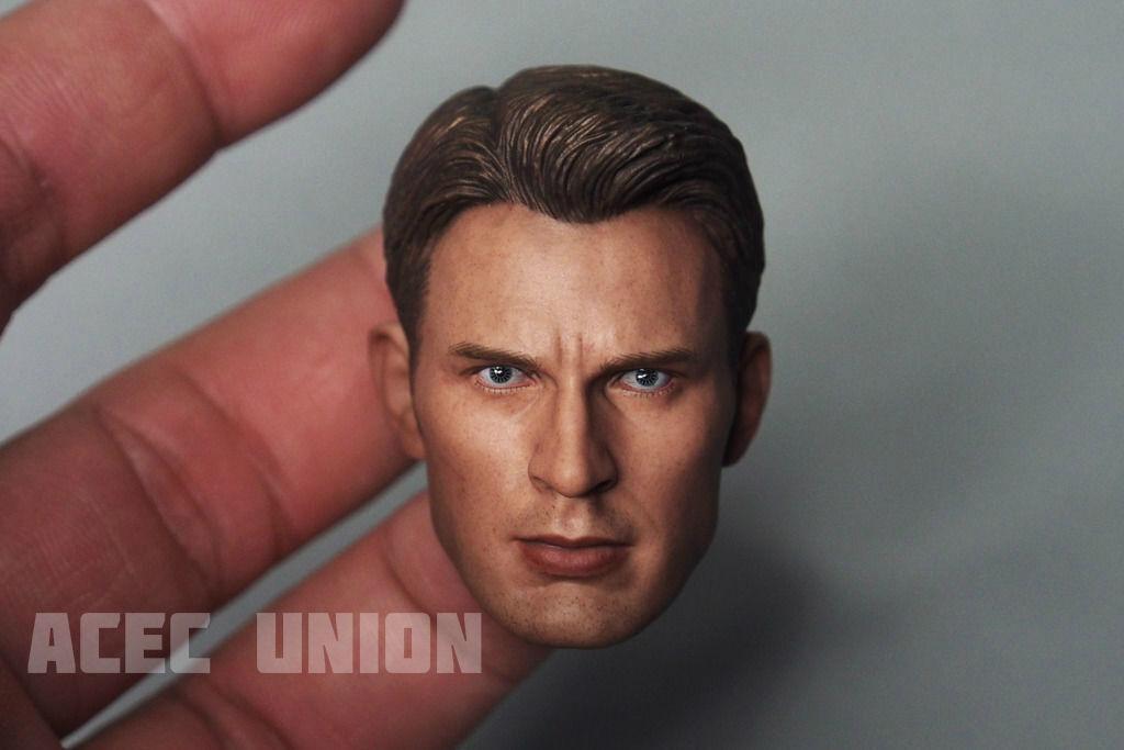 1 6 Chris Evan Captain America America America Head Sculpt 5.0 For Hot Toys Body - U.S.A. SELLER bc5db6