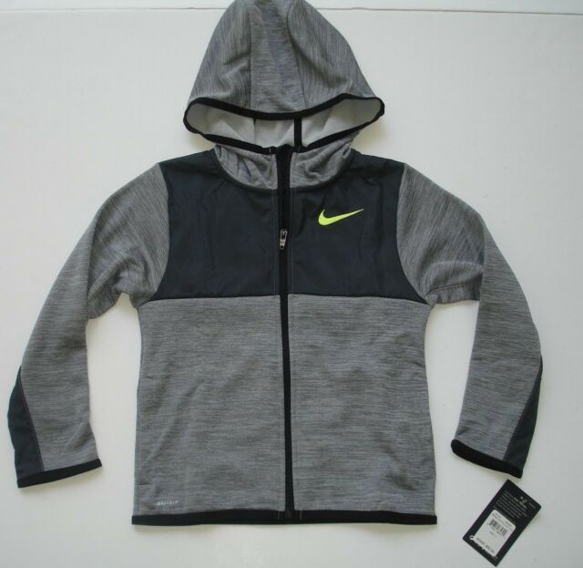 Nike Windbreaker Boy/'s Hoodie Jacket Sz.Extra Large Black//Red//Grey NWT