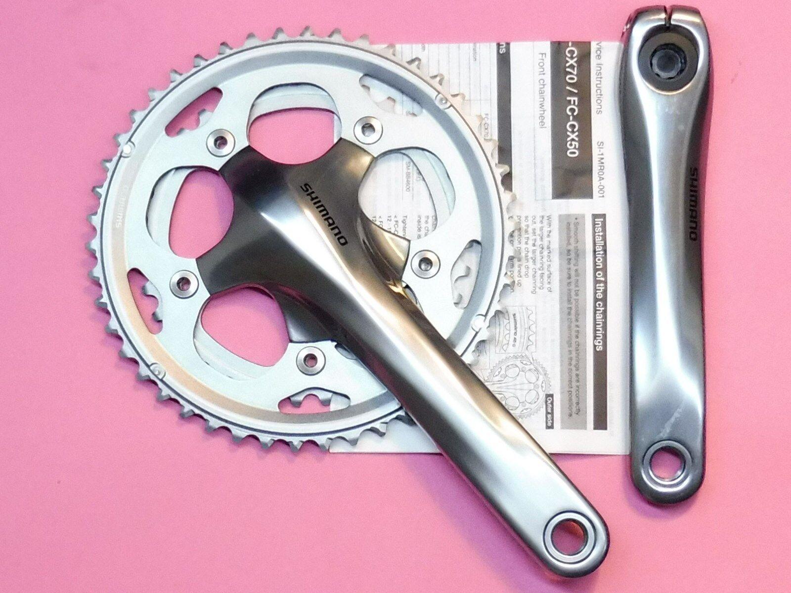 Shimano-CX50 Cyclo-x pedalier 175 Mm - 36.46 (plata) - nos