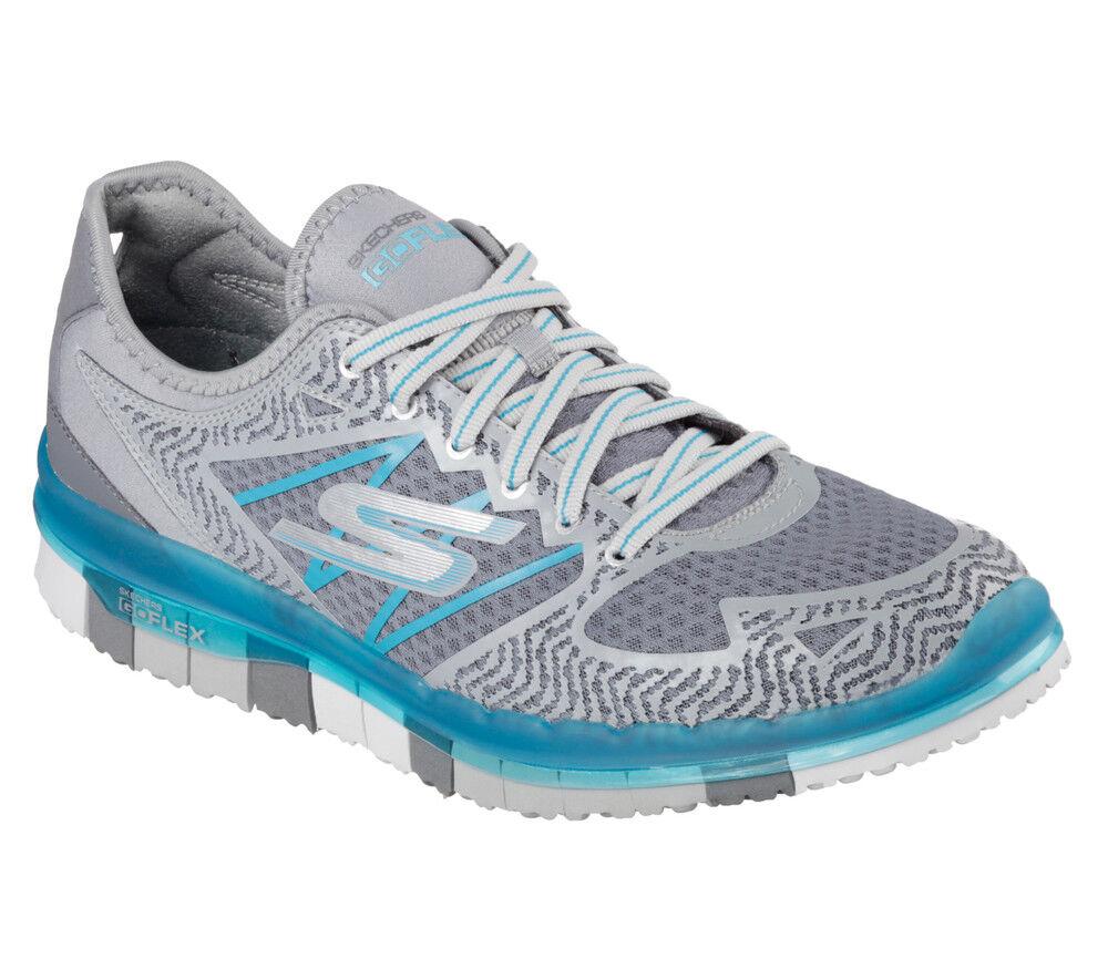 NEU SKECHERS Damens Fitness Sneaker Trainer Memory Foam GO FLEX MOMENTUM Charcoal