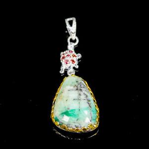 Unique-Natural-Emerald-925-Sterling-Silver-Pendant-NP06888
