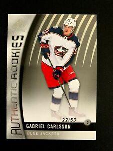 2017-18 SP Game Used #89 Gabriel Carlsson/53 TRUE RC