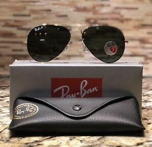 a7782220e4 Ray-Ban Aviator Polarized Sunglasses RB3025 001 58 58mm Gold Frame ...
