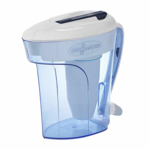 Zero Water 10 Cup Water Filter Table Jug Pitcher Dispenser TDS Meter 2.4L ZD010