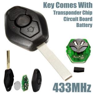 Details about Remote Key Fob 433Hz Replacement Uncut Blade For BMW E46 E39  3 5 7 Z3 M3 M5