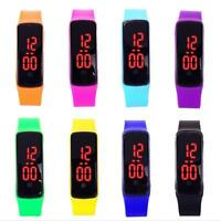 Girls / Boys LED Silicone Touch Screen Ultra Thin Jelly Digital Sports Watch JU