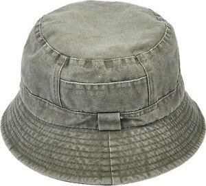 Women Men Denim Bucket Hat Washed Cotton Summer Packable Outdoor Hat Dark Denim