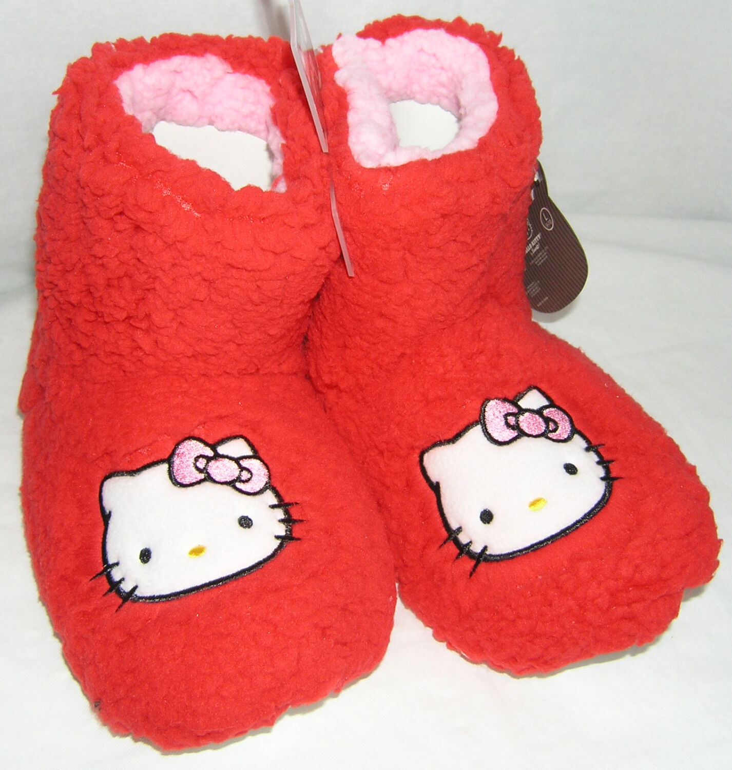 Hello Kitty Slipper Booties RED PLUSH NICE GIFT FREE USA SHIPPING SMALL 5-6