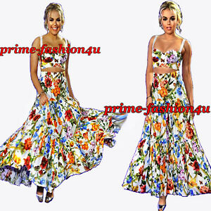 8cb20986a Dolce & Gabbana Floral Bamboo Print High Waisted Tiered Long Maxi ...