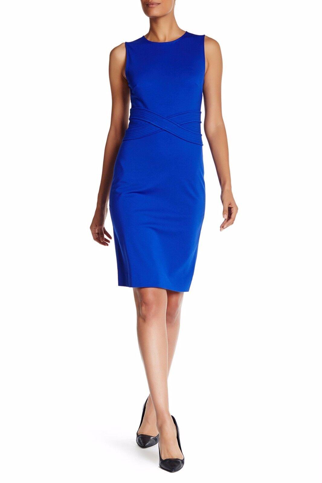 Diane von Furstenberg DVF Evita Sleeveless Sheath Dress Cobalt bluee Size 12