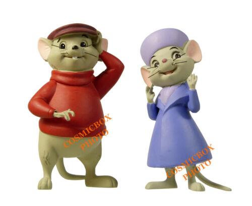 BERNARD et BIANCA figurines en résine Disney The RESCUERS figures news in box