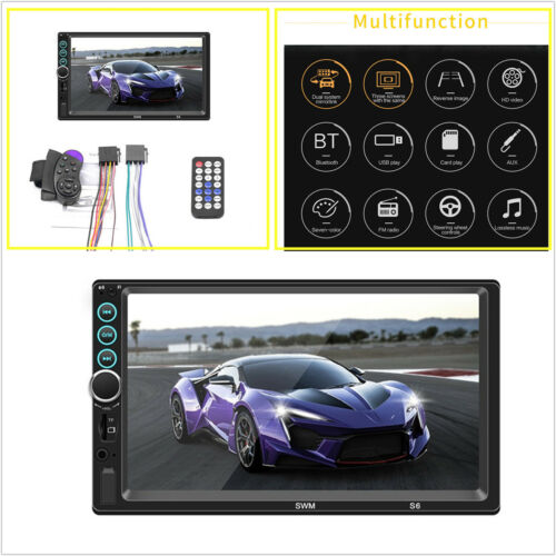 7inch 188*102*58mm Touch control 2Din Car MP5 Radio Multimedia Player Screen S6