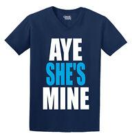 Aye She's Mine Printed Adult V-neck T-shirt