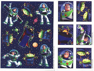 BUZZ Lightyear Toy Story Stickers Disney  2 Sheets!