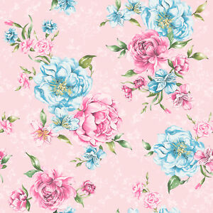 Image Is Loading Josephine Wallpaper Flowers Flora Leaves Motif Bold Pink