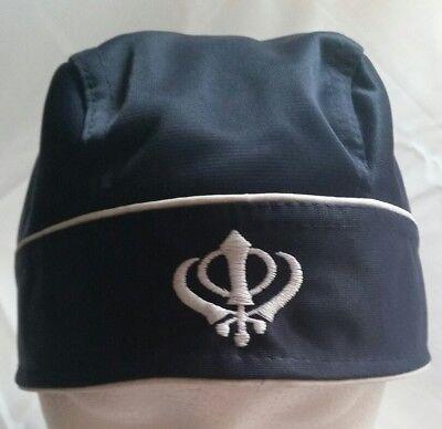 Sikh Punjabi turban patka pathka Khanda bandana Head Wrap Black Colour Singh